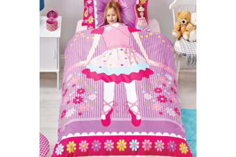 Ballerina Quilt Cover Set by Cubby House Kids