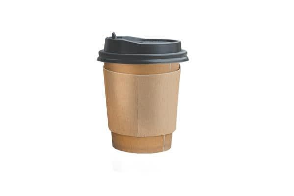 Image of 100PCS Double Wall Paper Cups with Lids Stirrers 16oz