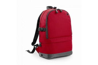 BagBase Backpack / Rucksack Bag (18 Litres Laptop Up To 15.6 Inch) (Pack of 2) (Classic Red) (One Size)