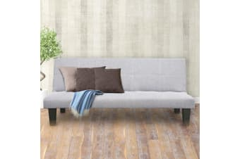 2 Seater Modular Linen Fabric Sofa Bed Couch