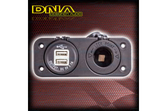 Dna Dual Twin Usb 3.1A & Cigarette Auxilary Socket 12V Volt 4wd Caravan Pa201