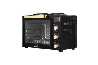Maxkon New 45L Benchtop Convection Oven Rotisserie Portable Toaster with Hot Plates