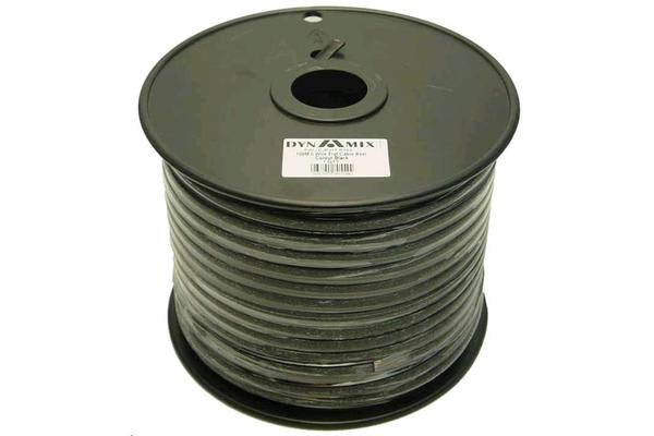 Dynamix 100M Roll 4 Wire Flat Cable. Black  colour.