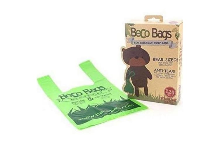 Beco Poop Bags With Handles (120 Bags) (Green) (One Size)