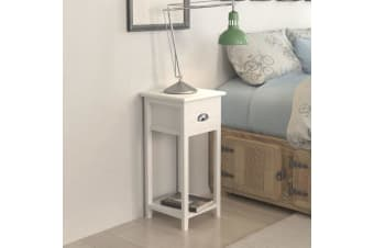 vidaXL Nightstand with 1 Drawer White