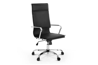 Eames Replica PU Leather High Back Office Chair (Black)