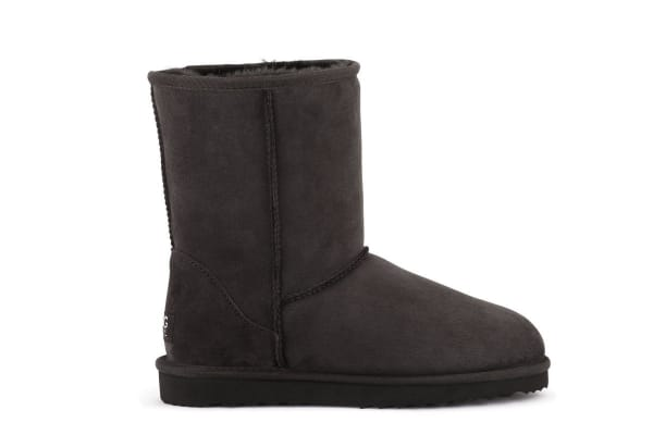 Outback Ugg Boots Short Classic - Premium Sheepskin (Chocolate, Size 10M / 11W US)