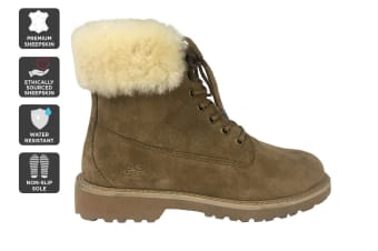 Outback Ugg Outdoor Classic Boot - Premium Sheepskin (Chestnut)