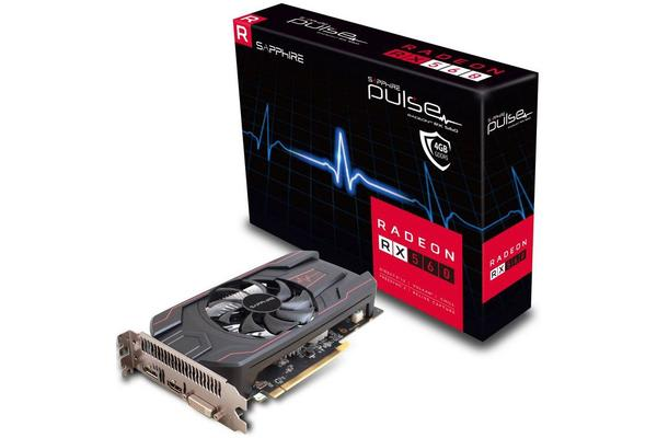 Sapphire AMD PULSE RX 560 4GB 45W Version Gaming Video Card - Draw Power from PCI-E GDDR5 DP/HDMI/DVI AMD Eyefinity 1216MHz