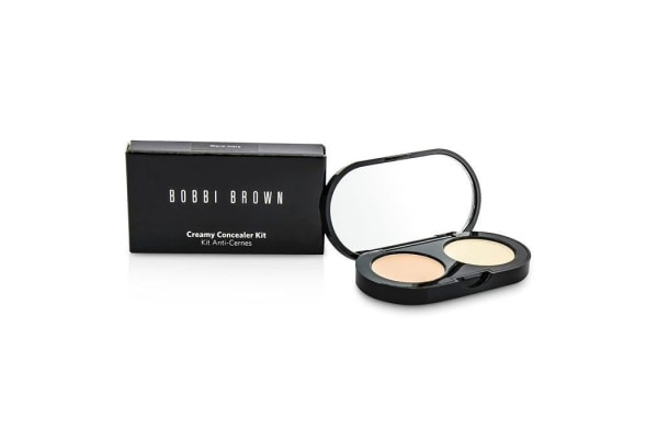 Bobbi Brown New Creamy Concealer Kit - Warm Ivory Creamy Concealer + Pale Yellow Sheer Finish Pressed Powder (3.1g/0.11oz)
