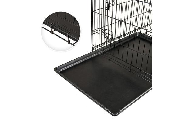 "48"" Foldable Metal Wire Dog Cage with Removable Tray"