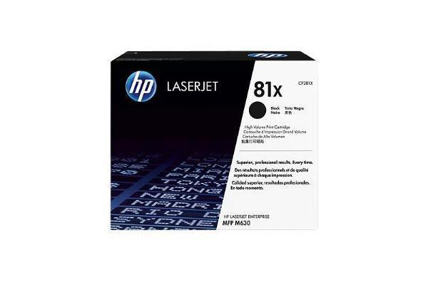 HP 81X BLACK HIGH YIELD LASERJET TONER CARTRIDGE CF281X