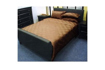 Dominic Coffee Quilt Cover Set by Orient Sense