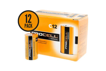 Duracell Procell C size Professional Alkaline Battery 12 Pack PC1400