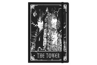 Deadly Tarot The Tower A5 Hard Cover Notebook (Black)