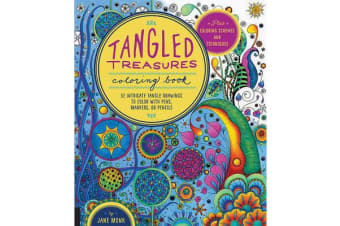 Tangled Treasures Coloring Book - 52 Intricate Tangle Drawings to Colour with Pens, Markers, or Pencils