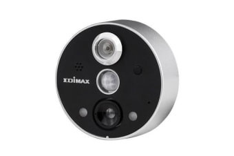 EDIMAX Smart Wi-Fi Peephole Network Camera. Remote door monitoring. 2-way audio. PIR sensor for