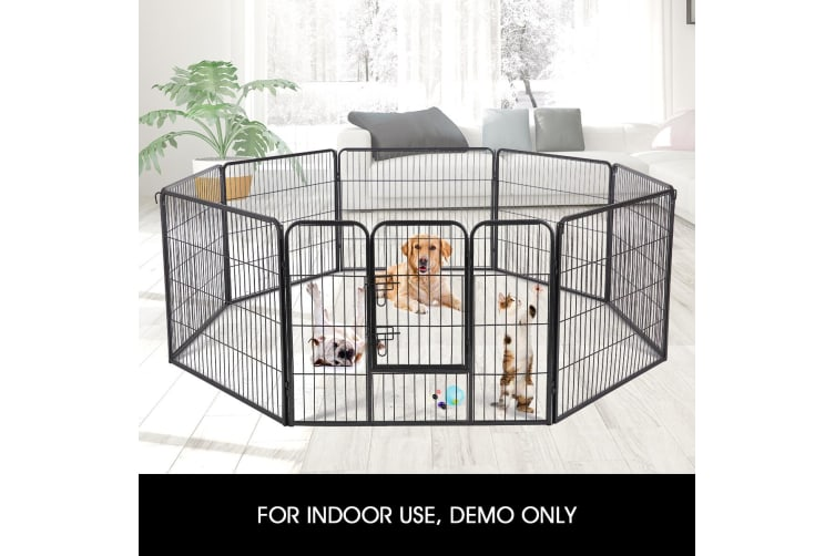New 8 Panel Pet Playpen Cat Dog Enclosure XL