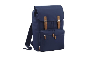 Bagbase Heritage Laptop Backpack Bag (Up To 17inch Laptop) (French Navy) (One Size)