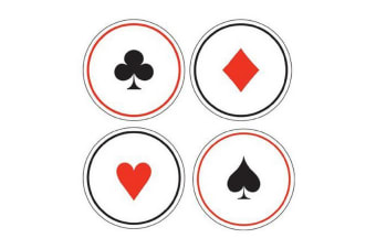 Creative Converting 6 Cards Night Beer Mat Coasters (White/Black/Red)