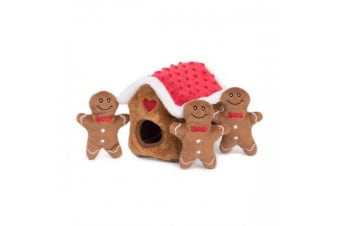Zippy Paws Gingerbread House Dog Toy (Multicoloured)