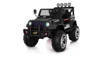 Kids Remote Control Car Truck Jeep Off-Road w/Four Motor - Black