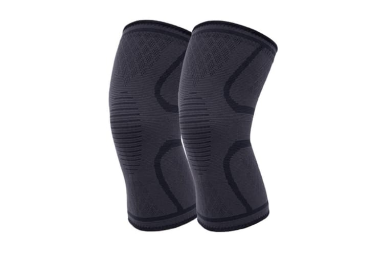 2Pcs Male And Female Black Outdoor Sports Kneecap For Running Basketball Soccer Mountaineering Black S