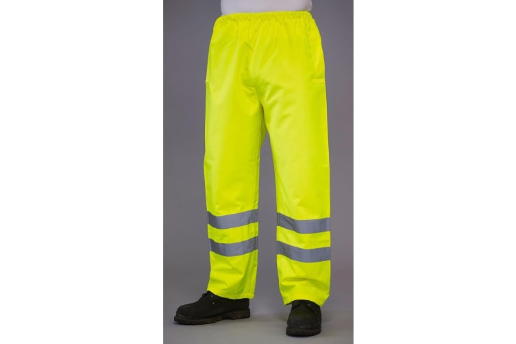 Grafters Unisex Safety Hi-Visibility Waterproof Over Trousers (Yellow) (M)