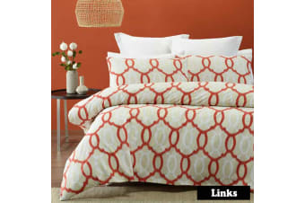 Links Quilt Cover Set KING