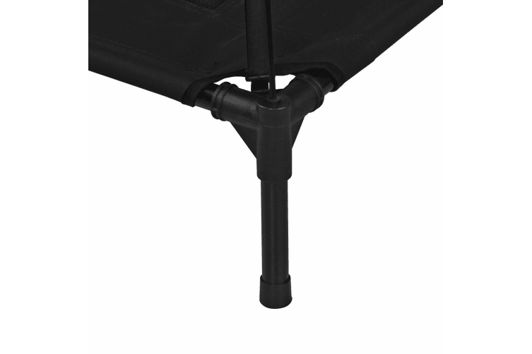 Charlies Elevated Pet Bed With Tent Black 122*92*23