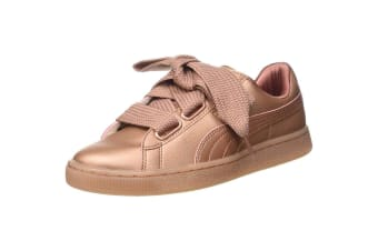 Puma Womens/Ladies Monochrome Basket Heart WN Low Top Trainers (Copper Rose) (3.5 UK)