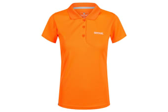 Regatta Womens/Ladies Maverick IV Polo Shirt (Shocking Orange)