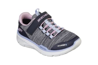 Skechers Girls Equalizer 3.0 Mbrace Trainers Shoes (Navy/Grey/Pink/Blue) (10.5 UK Child)