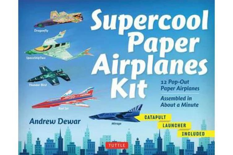 Supercool Paper Airplanes Kit - 12 Pop-Out Paper Airplanes - Assembled in About a Minute