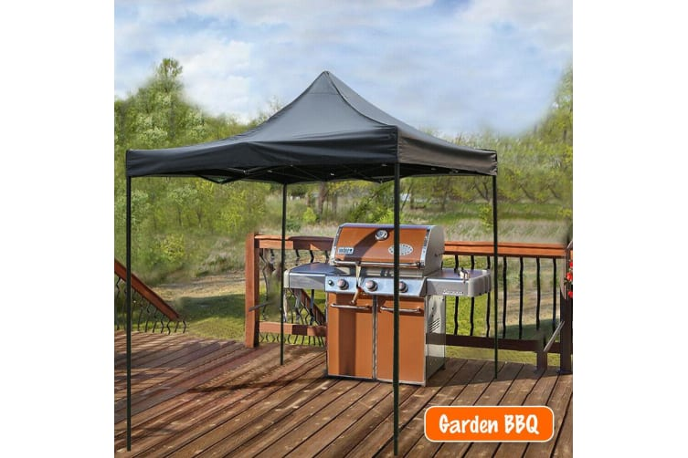 3x3M Gazebo Outdoor Pop Up Tent Folding Marquee Camping Canopy Silver Coated