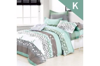 King Size FALL IN LOVE Design Quilt Cover Set