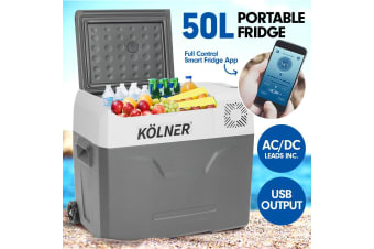 Kolner 50L Portable Fridge Cooler Freezer Camping Food Storage with Smart Fridge App