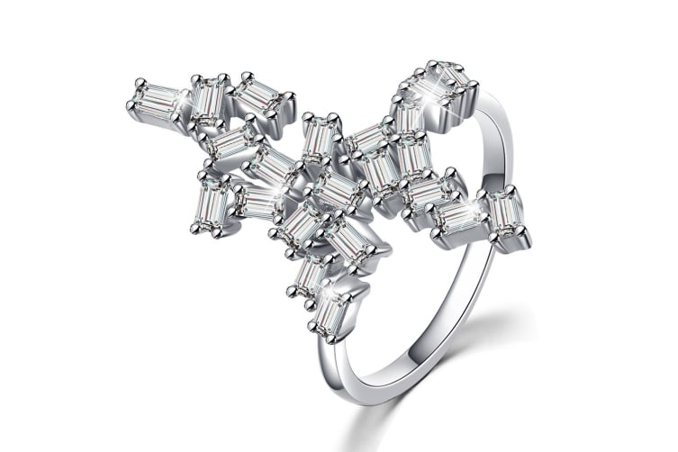 .925 Wild Fantasy Ring-Silver/Clear   Size US 8