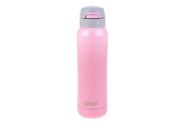 Oasis Stainless Steel Insulated Sports Bottle with Straw 500ml Soft Pink