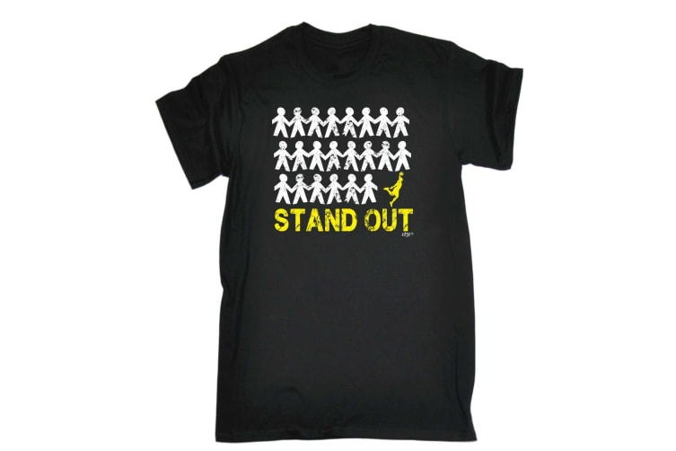 123T Funny Tee - Stand Out Basketball - (3X-Large Black Mens T Shirt)