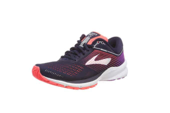 Brooks Women's Launch 5 (Navy/Coral/Purple, Size 8.5)