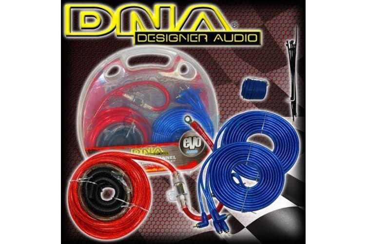 DNA 1200W CAR AUDIO 4 CHANNEL POWER AMPLIFIER AMP WIRING KIT CABLE on