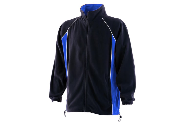 Finden & Hales Mens Piped Anti-Pill Microfleece Jacket (Navy/Royal/White) (L)