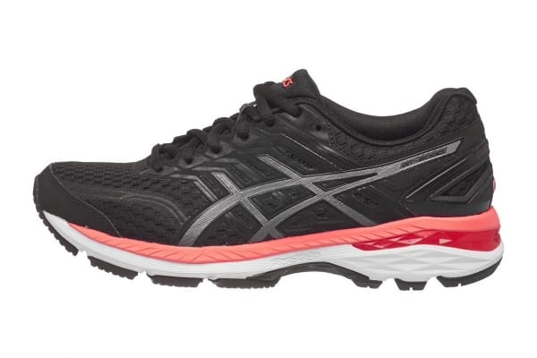 ASICS Women's GT-2000 5 Running Shoe (Black/Carbon/Flash Coral, Size 8.5)
