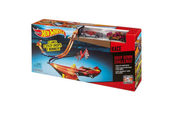 Hot Wheels Race Rally Track Set Drop Down Challenge