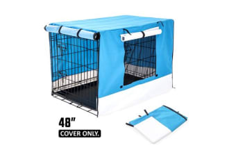 "48"" Cover for Wire Dog Cage - BLUE"