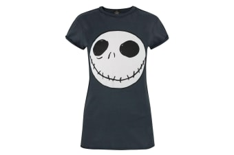 Nightmare Before Christmas Womens/Ladies Jack Reverse Seam T-Shirt (Charcoal)