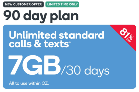 Kogan Mobile Prepaid Voucher Code: MEDIUM (90 Days | 7GB Per 30 Days)