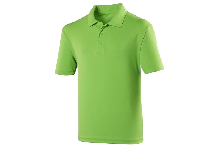 Just Cool Mens Plain Sports Polo Shirt (Lime Green) (S)