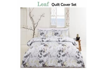 Leaf Moss Quilt Cover Set DOUBLE